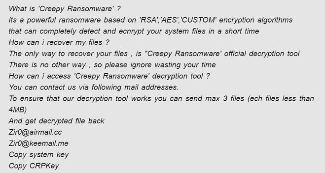 remove creepy ransomware