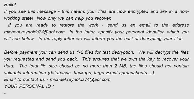 eliminar el ransomware pasamontañas michael