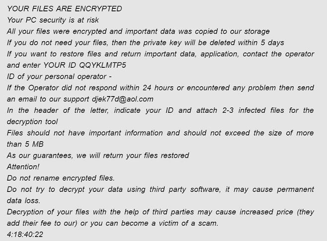 remove waiting ransomware