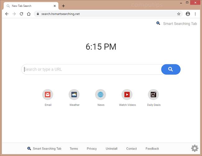 supprimer search h smartsearching net virus
