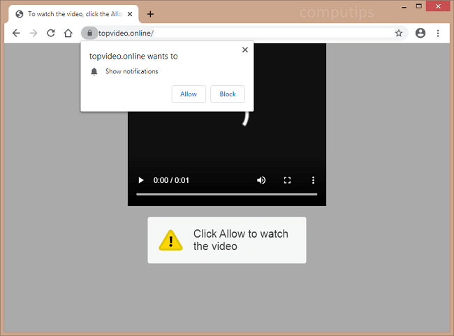 Delete top video.online, 0.topvideo.online virus notifications