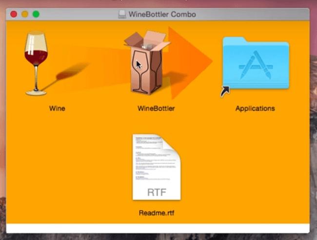 how to run windows apps on a mac via Wine