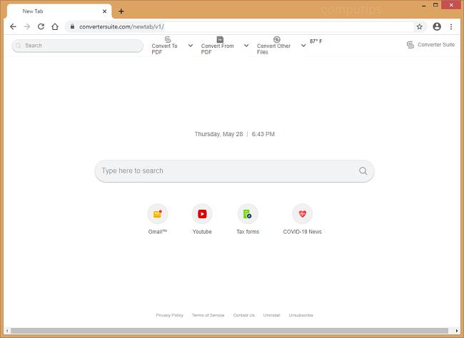 supprimer le virus de la suite de conversion (convertersuite.com)