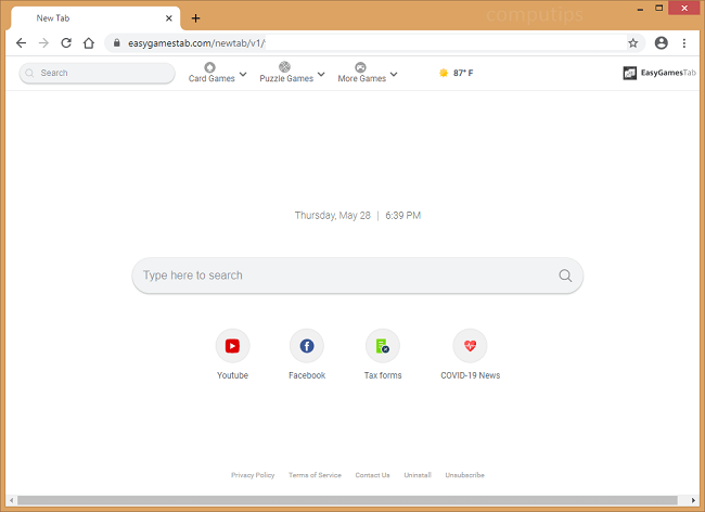 supprimer le virus easy tab tab (easygamestab.com)