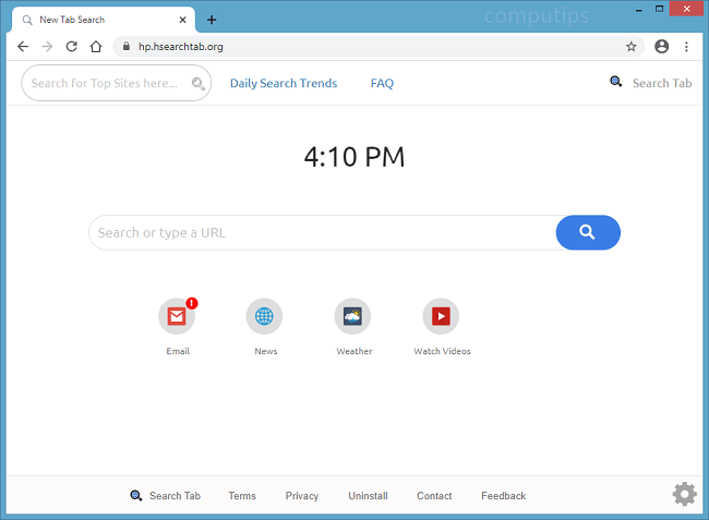 delete hp hsearch tab org virus (search.hsearchtab.org)