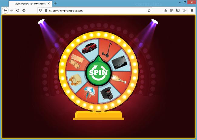 Excluir notificações de vírus triumphantplace.com