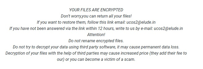 ucos2 elude in bad ransomware