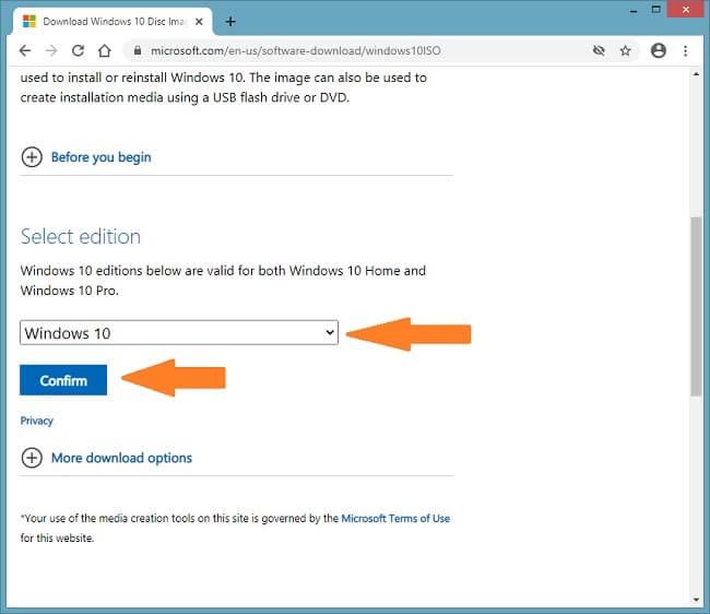 Capture d'écran d'installation de Windows sur Virtualbox 1