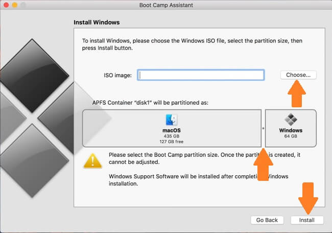 Windows on BootCamp installation screenshot 2