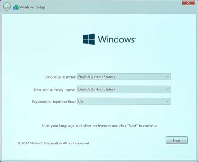 Installation de Windows sur la capture d'écran de Virtual Box 4