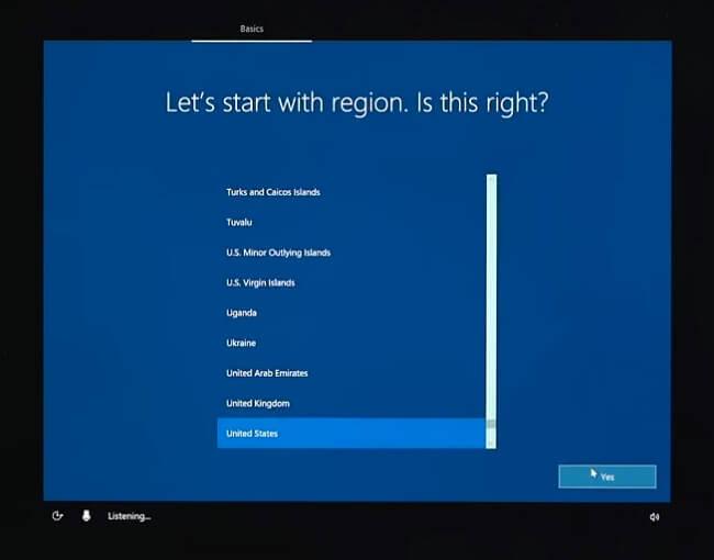 Installation de Windows sur la capture d'écran de Virtual Box 5