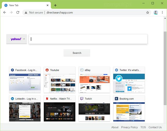 delete Direct Search App virus (directsearchapp.com)
