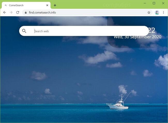 """exclua o vírus Comet Search """"instalado pelo administrador"""" (ID: mcmaoiknodgafcklbjkfdiddbpghaddg)"""