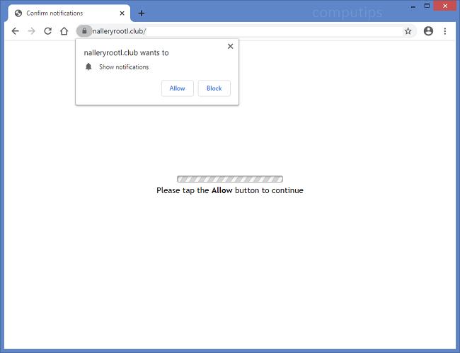 Delete t87n.nalleryrootl.club, yhza.nalleryrootl.club (nalleryrootl.club virus) notifications