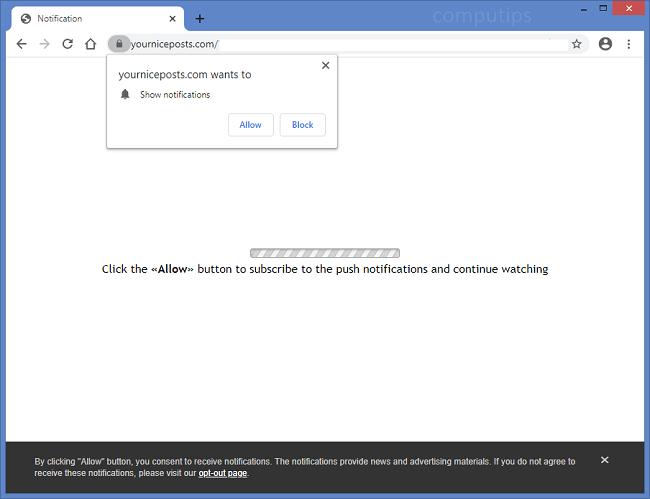 Supprimez vos notifications de virus nice posts com