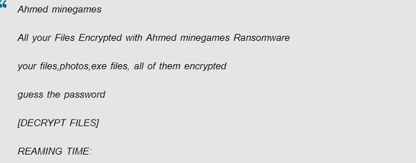 ahmed- ransomware minegames