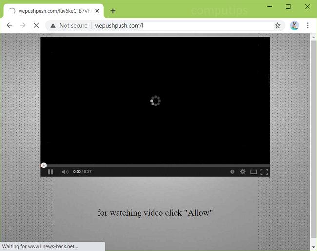 Delete we push push com virus notifications