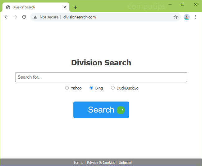 delete Division Search virus (https://divisionsearch.com)
