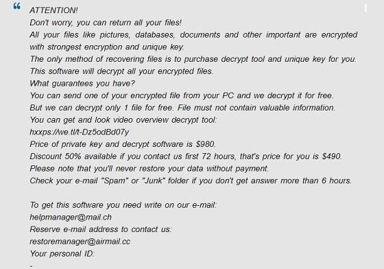 supprimer epor ransomware