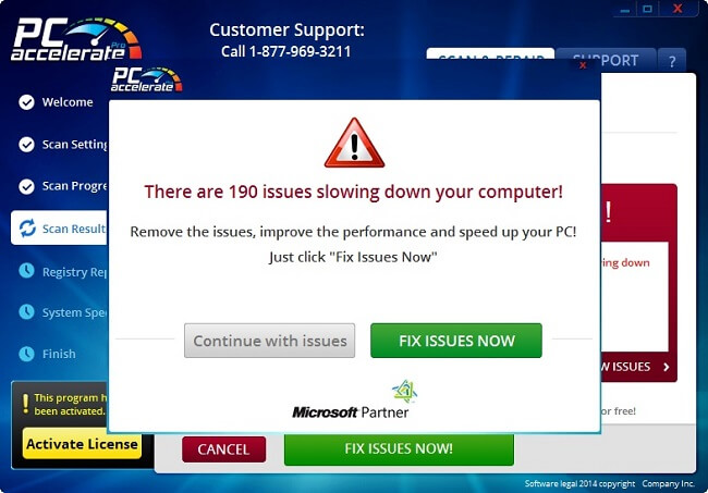 Remoção de pop-up de vírus PC Accelerate Pro do Windows