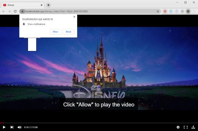 Capture d'écran du site Web malveillant Locationtutor.xyz