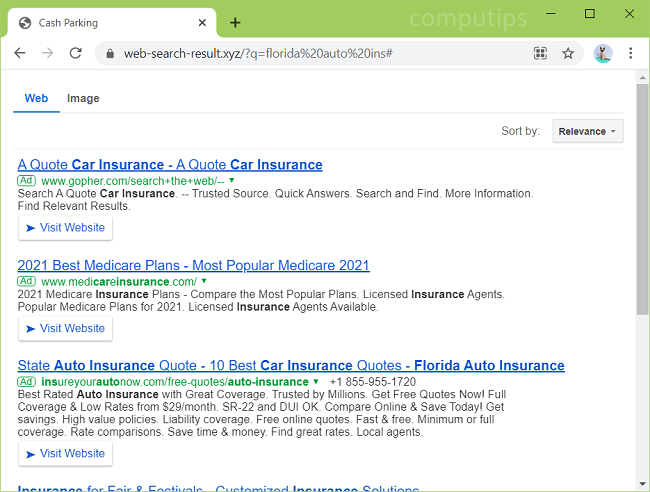 Supprimer le virus web-search-result.xyz