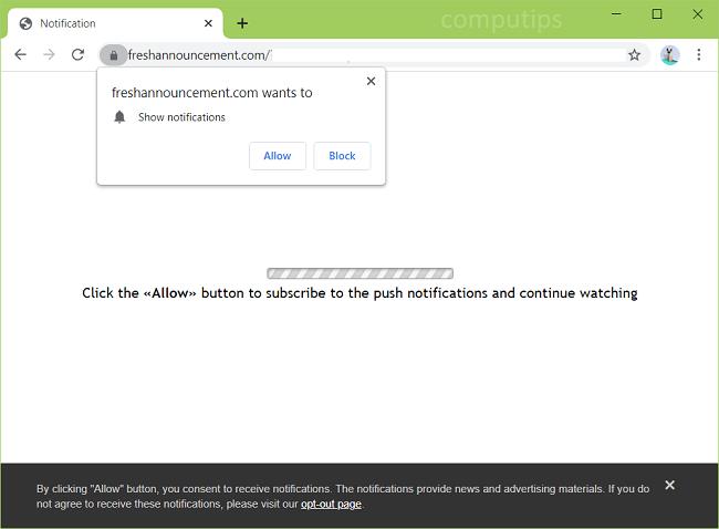 Excluir novas notificações de vírus de anúncio