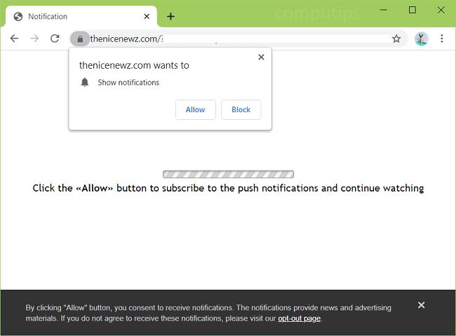 Supprimer les notifications de virus Nice Newz
