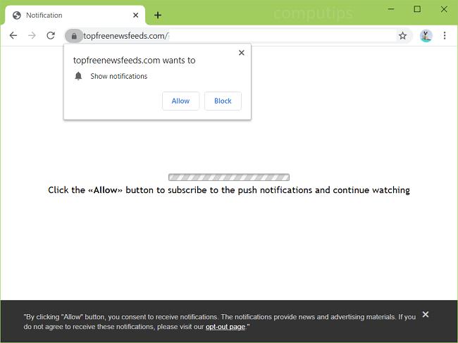 Delete top free news feeds virus notifications