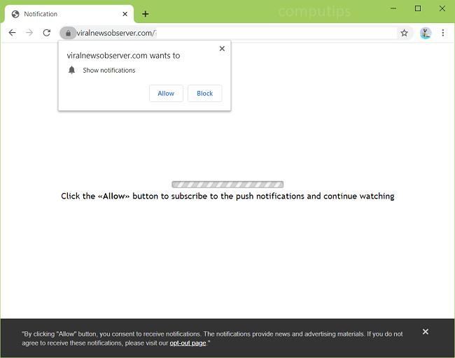 Supprimer les notifications de virus de l'observateur de nouvelles virales