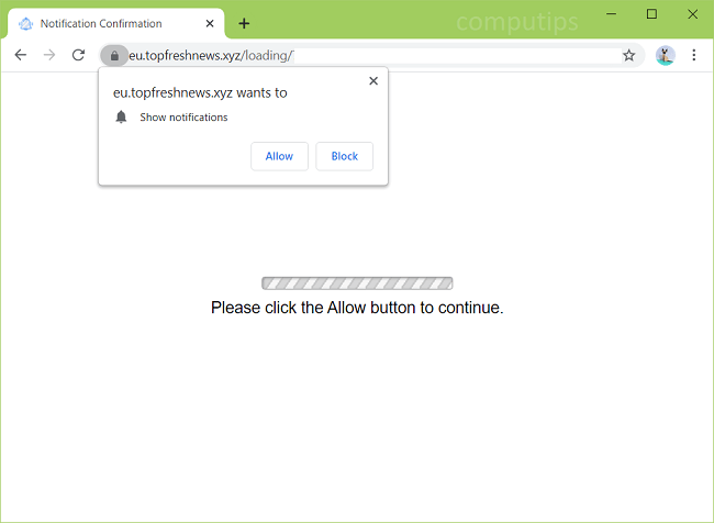 Delete eu.topfreshnews.xyz (top fresh news virus) notifications