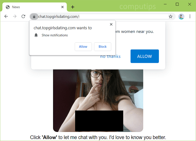 Supprimer chat.topgirlsdating.com (top filles datant virus) notifications