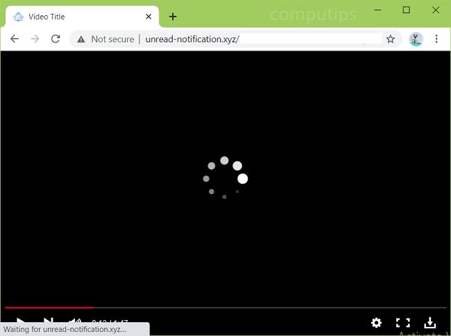 Excluir notificações de vírus unread-notification.xyz