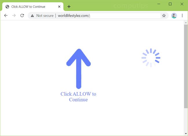 Delete world life styles virus notifications