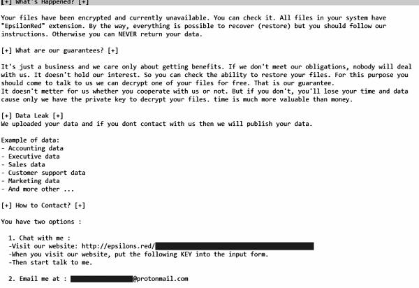 décrypter les fichiers epsilonred