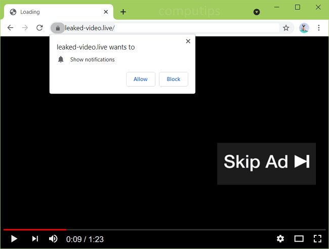 Supprimer leaked-video.live, ldzih.leaked-video.live, notifications de virus w1ht.leaked-video.live
