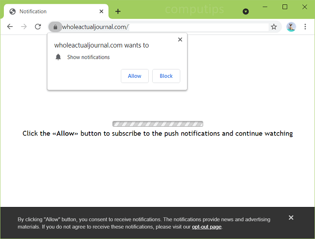 Delete whole actual journal virus notifications