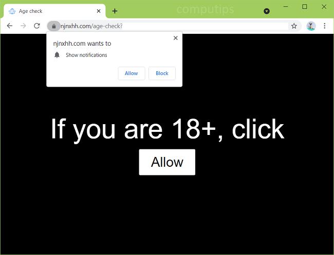 Delete kc8b6.njnxhh.com, cbvso.njnxhh.com virus notifications