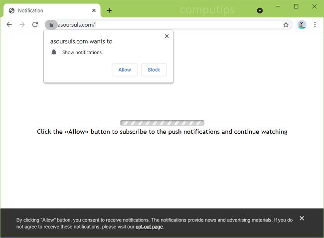 Delete a sour suls.com virus notifications