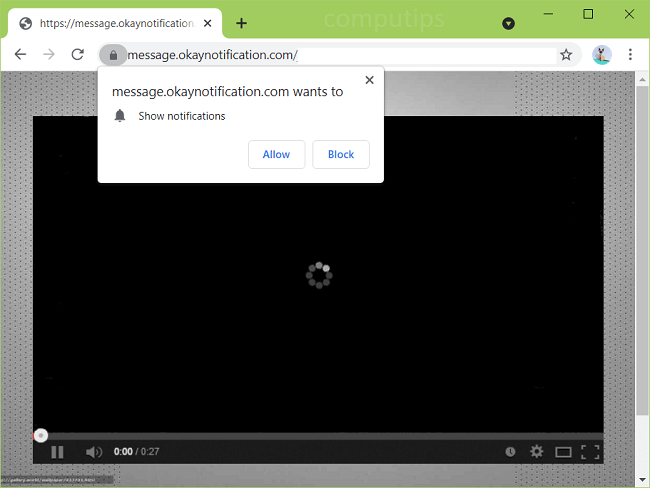 Eliminar message.okaynotification.com, information.okaynotification.com, sms.okaynotification.com, notificaciones de virus notice.okaynotification.com