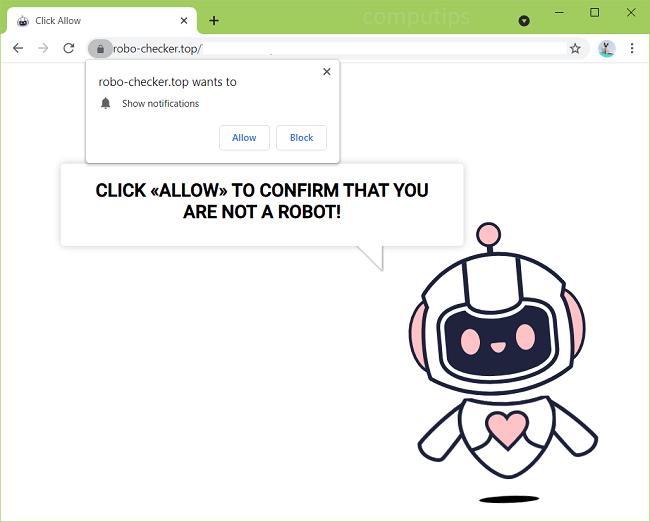 Delete a.robo-checker.top, b.robo-checker.top, c.robo-checker.top virus notifications