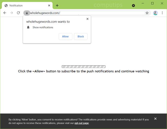 Delete whole huge words virus notifications