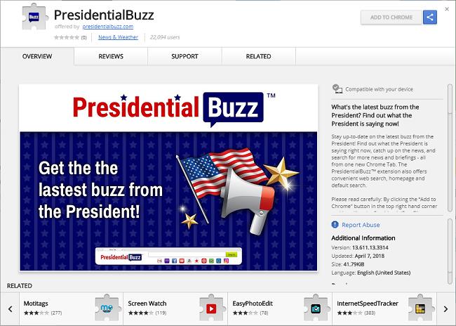 Delete Presidential Buzz virus