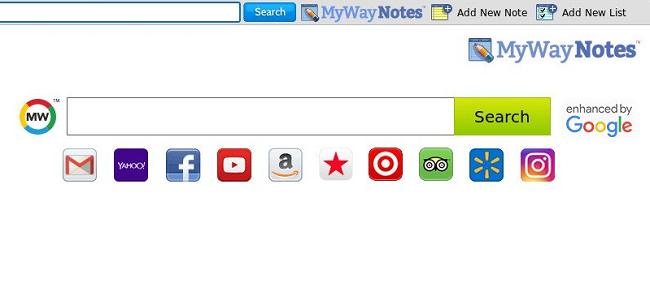 Delete My Way Notes New Tab virus