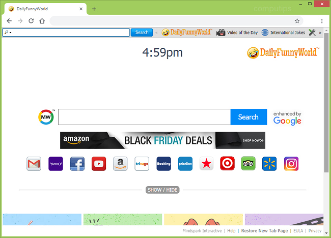 delete Daily Funny World new tab virus (My way virus)