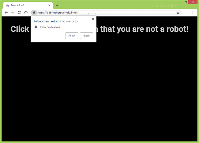 Delete https://babnotherstantold.info, l04f.babnotherstantold.info, sl02.babnotherstantold.info, my3x.babnotherstantold.info, kkls.babnotherstantold.info, b6pt.babnotherstantold.info virus notifications