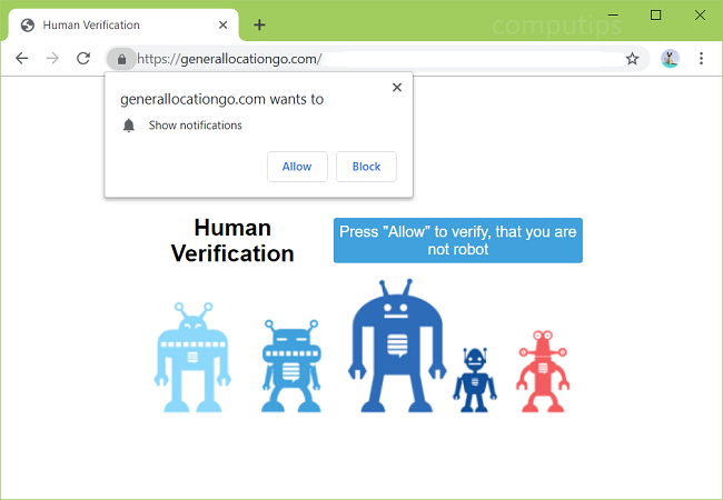 Delete https://generallocationgo.com, 0.generallocationgo.com, 1.generallocationgo.com, 2.generallocationgo.com (general location go) virus notifications