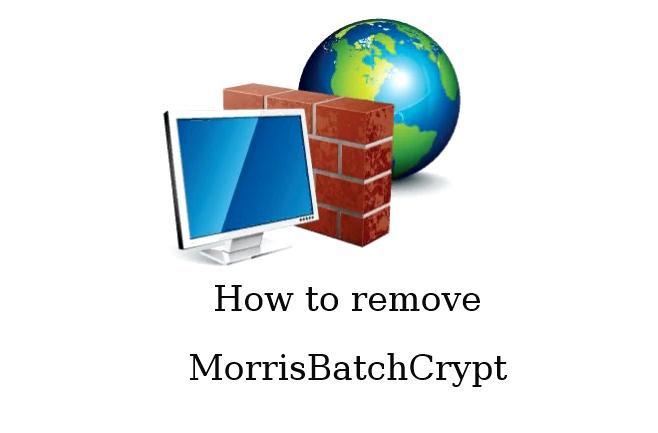 How to remove MorrisBatchCrypt