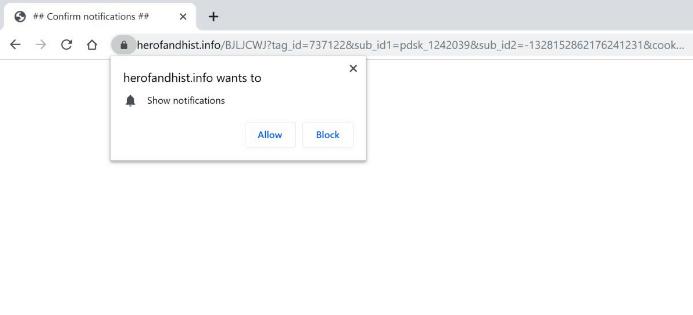 How to remove Herofandhist.info ads