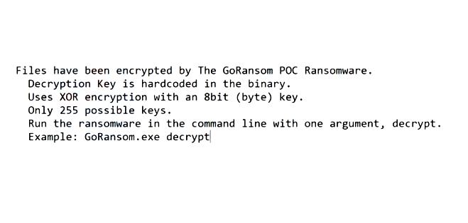 How to remove GoRansom POC